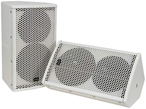 Citronic cx-8088W QTX-Sistema de altavoces pasivos de 2Vías, color blanco