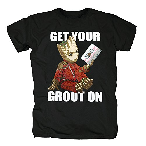 TSP Guardians of the Galaxy - Get Your Groot on T-Shirt Herren Black