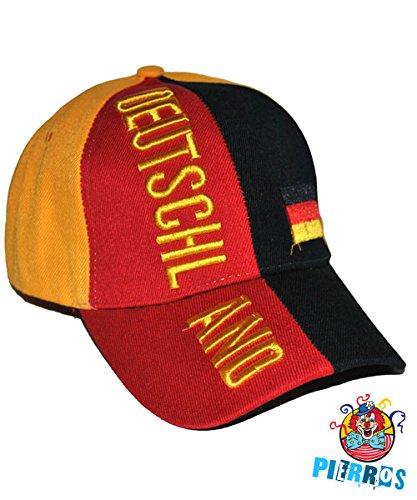 Pierro´s Artikel Zubehör Kappe Deutschland Accessoires Kopfbedeckung Hut Hüte Deutschland Fanartikel für Karneval, Fasching, Motto Party / Deutschland Germany Fußball WM EM FAN Artikel (Kinder-fußball-kostüme)