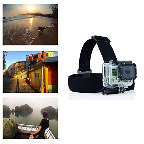Navitech Imbracatura Regolabile con Elastico per Elmetto Compatibile con Topop OD009B-SVESK3 | Toshiba Camileo X-Sports | Uvistar Sports Action Cam