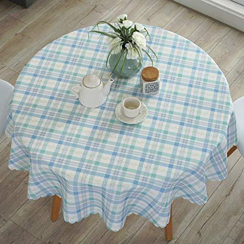 YI KUI nappes Pad Nappe Ronde - résistant à l'huile de erbrühschutz étanche Petite Table Ronde - Mixte - matériel de qualité Facile d'entretien-110 * 110cm