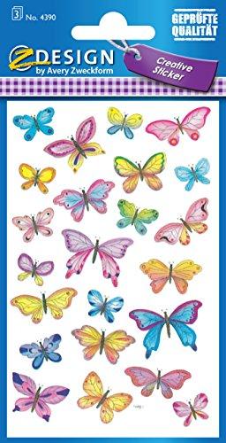 Pegatinas pequeñas mariposas