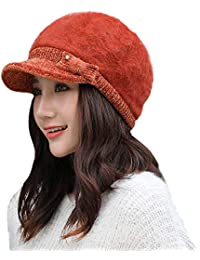 4718ca84285 Doingshop Womens Winter Fashion Newsboy Painter Baker Cap Adjustable Ladies  Knit Hat with Bow