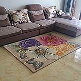 Love QAZ Handgefertigte Teppiche Landhausstil Wohnzimmer Teppich Verdickung Schlafzimmer Das Bett ist voller Teppiche (Farbe: #1)