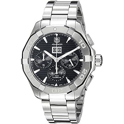 TAG Heuer de hombre cay211z. ba0926pantalla analógica Swiss automático plateado reloj