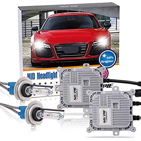 SUNPIE H7 error libre CANBUS HID Xenon 5500k 12V Kit de conversión Hi / Lo bulbo de la viga lámpara de la