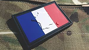 Patch Velcro Airsoft PVC Relief Drapeau Français France