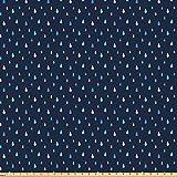 ABAKUHAUS Navy blau Stoff als Meterware, Indigo
