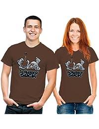 Fun T-Shirt Schnarchsack braun grau schwarz XL