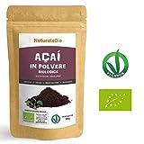 Bacche di Açai Biologiche in Polvere [ Freeze - Dried ] 50 gr | 100%...