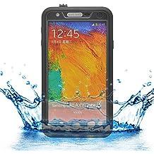 Samsung Galaxy Note 3 - iProtect Funda protectora carcasa para actividades al aire libre resistente al agua en negro