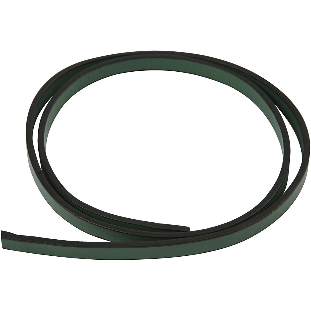 Cintura di finto cuoio, l: 10 mm, verde, 1m