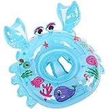 Aufblasbarer Krabbe Schwimmreifen 54cm Pool Party Schwimmring aufblasbar Für Kinder Baby 1-5 years old