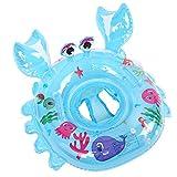 Lianshi Aufblasbarer Krabbe Schwimmreifen 54cm Pool Party Schwimmring aufblasbar Für Kinder Baby (Blau)