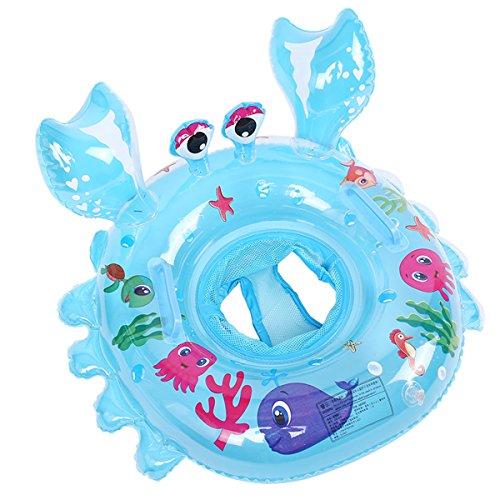 1pc granchio anello di nuotata per bambini diametro 54cm 1-5 anni (blu)