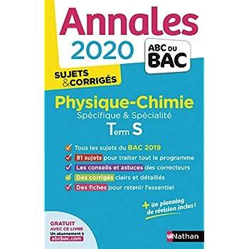 Annales ABC du BAC 2020 Physique-Chimie Term S