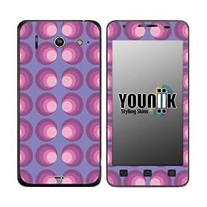 YOUNiiK Styling Skin Designfolie / Handy Skin für Huawei Ascend G510 - Retro Lila (Lieferumfang = Skin für Vorder- und Rückseite)