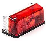 Umrissleuchte für Steckbirnen, Lichtscheibe geschraubt, rot/weiß