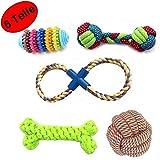 AGIA TEX Hunde-Spielzeug 5er-Set für kleine & große Hunde