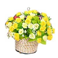 Blancho Bedding Hanging Basket Simulation Flowers Handmade Roses Artificial Flowers