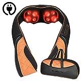 Nackenmassagegerät Shiatsu Massagegerät mit Wärmefunktion für Schulter Nacken Rücken - Elektrisch Massagekissen mit 3D-Rotation Massage für Muskel Schmerzlinderung, inkl. Tragetasche