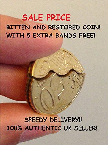 Bitten-und-Restauriertes-Mnze-50c-50-Cent-Euro-Coin-Bissen-Bitten-and-Restored-Coin-50c-50-cent-Euro-Coin-Bite-Out-David-Blaine-Magic