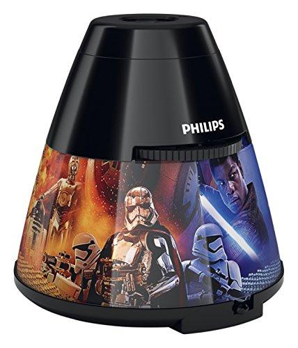 Philips Disney Cars Kinder-Nachtlicht und Projektor Star Wars - Episode VIII Schwarz