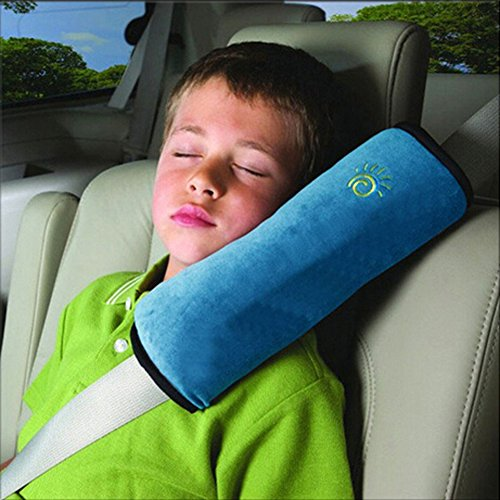Autokissen kinder Sicherheitsgurt mit Schulterpolstern Sicherheitsgurt für Kinder (blau)