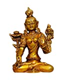 Crafthut Brass Statue/Idol Devi Tara for Blessing, Happiness, Health, Wealth at Home & Office, Handcrafted with Antique Look/Diwali Gift Product Dimensions (LxBxH -4.5x2.5x7) inches, Weight - 1.25 kg