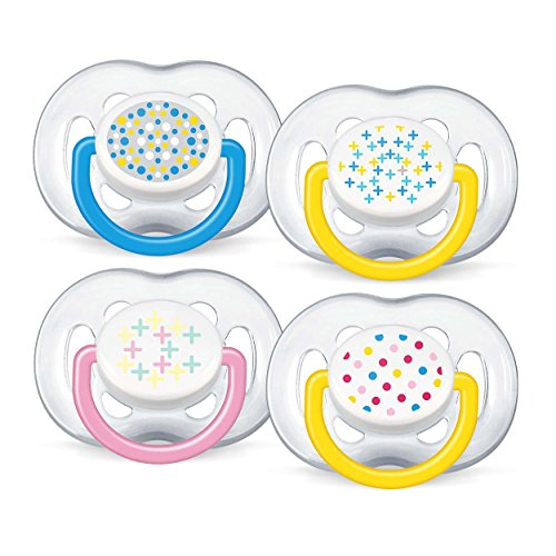 Preisvergleich Produktbild Philips Avent 8710103503385 Orthodontic Silicone Decorated Soother 6-18 Monate - Model : Girl Birds, (farblish sortiert)