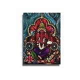 little finger Holy Indian Elephant Deity Ganesha - Cuadro Decorativo para Pared