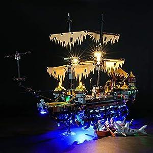 LIGHTAILING Set di Luci per (Disney Pirati dei Caraibi Silent Mary) Modello da Costruire - Kit Luce LED Compatibile con… 0716852281978 LEGO