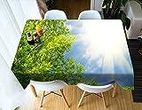 Tischdecke Gedruckt Ahorn Muster Tischdecke Vintage Rechteck Abendessen Picknick Küche Flat Table Blatt 140 * 200 cm / 55 * 79 in ZB-72 (Color : 6, Size : 140 * 200CM)