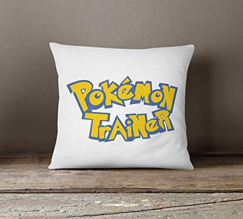 ZonaloDutt Pokemon werfen Kissenbezug niedlichen akzent Kissenbezug Indoor Kinder Kissen lustige Kissen Pokemon Trainer werfen Kissen Kinder Schlafzimmer Kissen P346 (Werfen Pokemon)