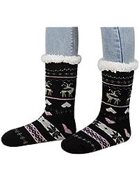 FOONEE Sherpa Calcetines para Mujer, Calcetines con Forro Polar, Calcetines para el hogar, Calcetines térmicos…