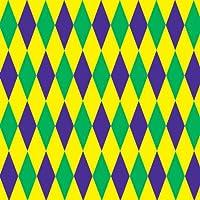 Beistle–52043–Mardi Gras Arlecchino sfondo–Confezione da 6