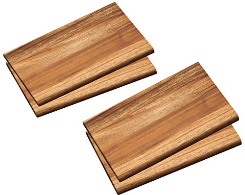 Neustanlo® 4er Set Frühstücksbrett aus FSC zertifiziertem Akazien Holz