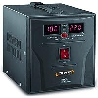 Infosec R2 Pro 1500 2salidas AC Negro - Regulador de voltaje (72 - 290, 50/60, 180-260, 50/60 Hz, 1500 VA, 900 W)