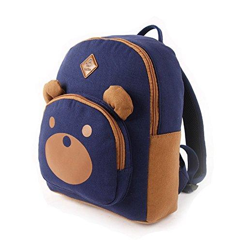 BABISM Kinderrucksäcke Reise Schule Tasche Schultertasche Süß Bär Backpack (pink) dunkel balu