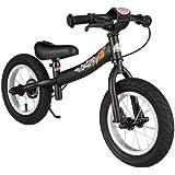 BIKESTAR® Premium Sicherheits-Kinderlaufrad für mutige Entdecker ab 3 Jahren ★ 12er Sport Edition ★ Teuflisch Schwarz (matt)