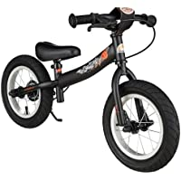 BIKESTAR Kinder Laufrad Lauflernrad Kinderrad für Jungen und Mädchen ab 3 - 4 Jahre mit Luftbereifung und Bremse ★ 12 Zoll Sport Kinderlaufrad ★