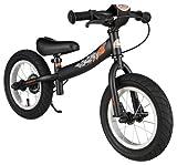 BIKESTAR Kinder Laufrad Lauflernrad Kinderrad für Jungen und Mädchen ab 3 - 4 Jahre ★ 12 Zoll Sport Kinderlaufrad ★ Schwarz (matt)