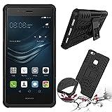 Huawei P9 LITE 2016 4G/LTE Silikon case schwarz Shockproof Cover - Zubehör Etui Huawei P9 LITE Dual Sim Schutzhülle (Handytasche black) - XEPTIO accessories