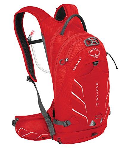 Osprey Hombre Raptor 10Backpack, color Red Pepper, tamaño 45 x 22 x 19...