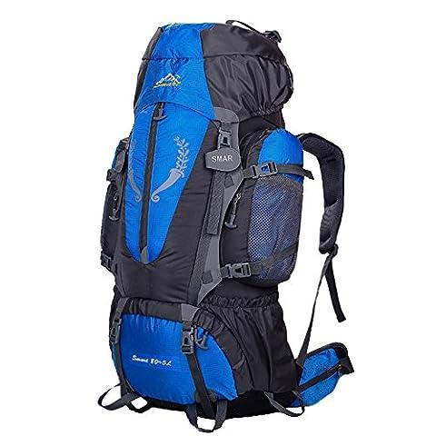 Smart Sac à dos de randonnée Sac 85L Grande Aventure de voyage Trekking, femme Enfant Homme mixte, Yy-js-85l, bleu, 80*41*17cm