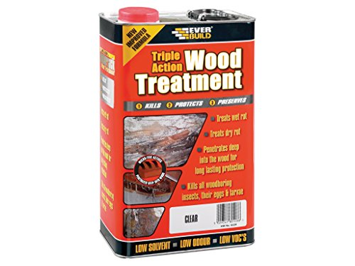 Everbuild LJUN05 5 Litre Lumberjack Triple Action Wood Treatment Test
