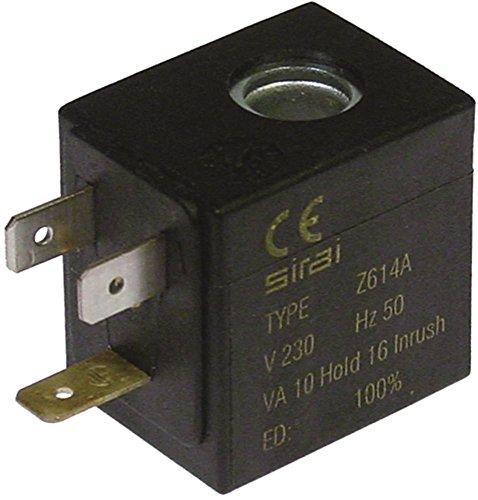 SIRAI Magnetspule 230V Spulentyp Z614A Aufnahme ø 10mm 10VA 10mm Breite 25mm Höhe 33mm Länge 32mm 230VAC
