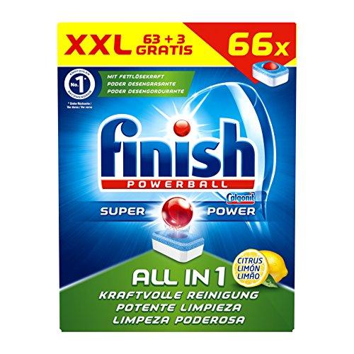 Finish All in 1 Citrus Spülmaschinentabs XXL 1er Pack (1 x 66 Stück)