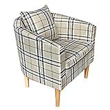 Songtree - (58x45x70cm) Butaca Moderna Sillón Relax Tela Estampado para Sala Oficina Dormitorio Comedor...
