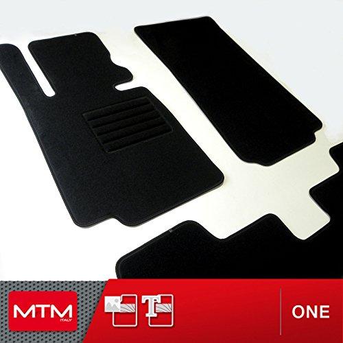 MTM Tapis de sol Serie 3 (E30) de 1982 a 1992, Sur Mesure en Velours Noir One, cod. fr170